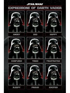 Poster Star Wars Darth Vader Expressions