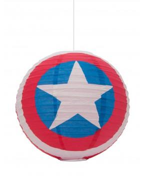 Lámpara papel Capitán América 30 Cm