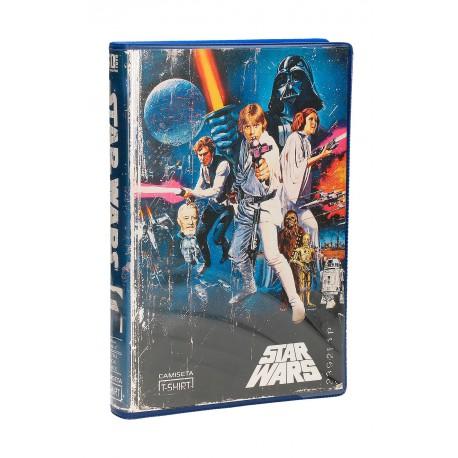 Camiseta Star Wars VHS blue