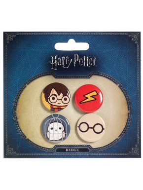Pack Chapas Harry Potter Kawaii