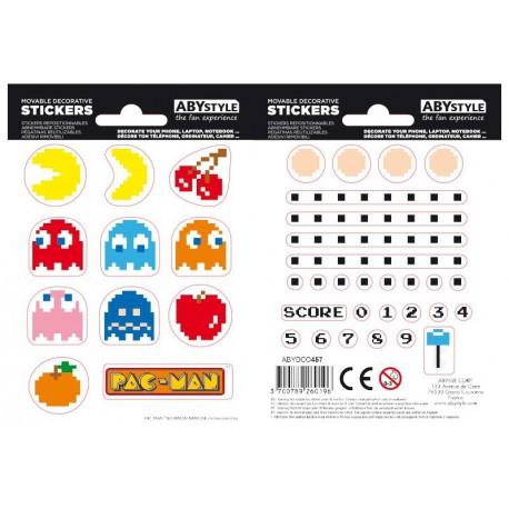 Set pegatinas PAC-MAN x2