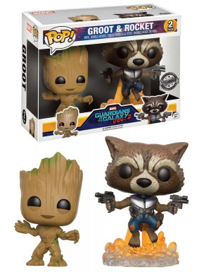 Funko Pop! Pack Groot y Rocket Guardianes de la Galaxia 2