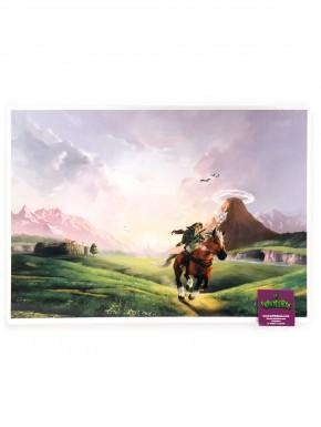 Poster metálico Zelda landscape