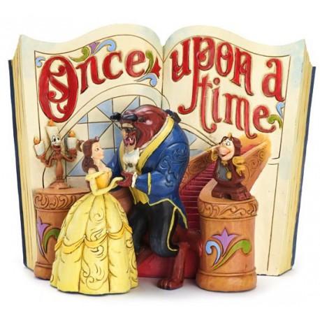 Figura Disney La Bella y la Bestia Jim Shore Once upon a Time