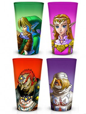 Set 4 vasos Zelda 400 ml