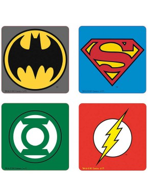 Set 4 posavasos DC Comics Logotipos