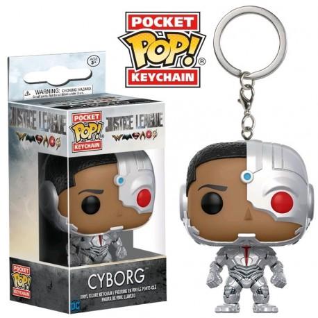 Llavero mini Funko Pop! Cyborg Liga de la Justicia