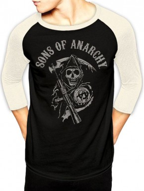 Camiseta Sons of Anarchy Reaper Manga Larga