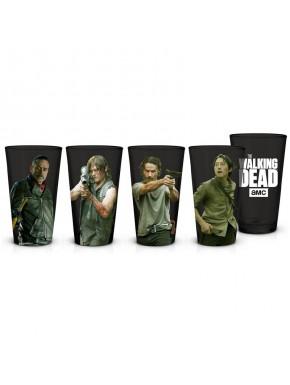 Set 4 Vasos Pinta Walking Dead Personajes