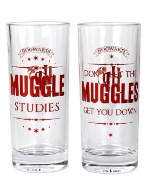 Pack 2 vasos cristal Harry Potter Muggles 450 ml