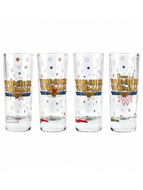 Set de 4 vasos chupito Wonder Woman