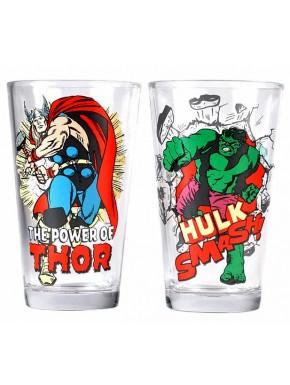 Set 2 vasos Hulk y Thor Marvel
