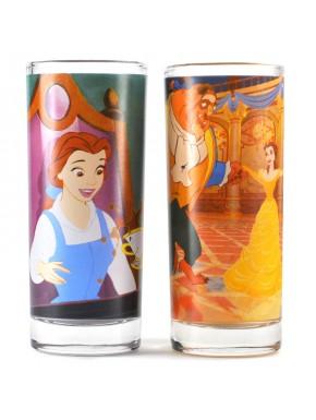 Set 2 vasos La Bella y la Bestia Disney