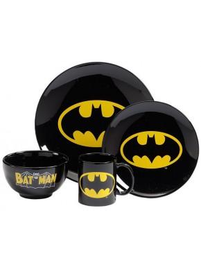 Vajilla 4 piezas Batman Logo Vintage