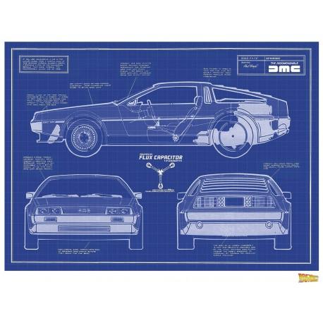 Poster Litografía Regreso al Futuro Delorean Ed. Limitada