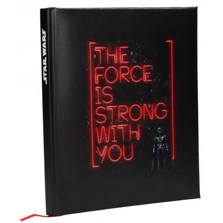 Star Wars Libreta con Luz y Sonido Darth Vader The Force