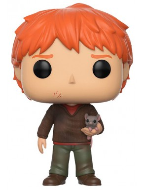 Funko Pop! Ron con Scabbers Harry Potter