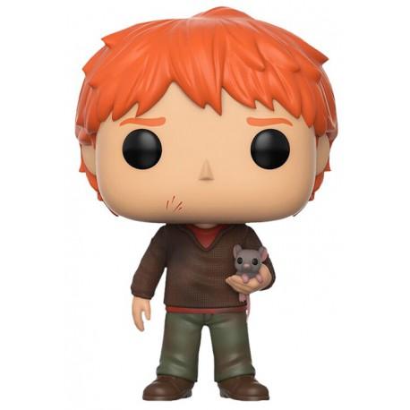 Funko Pop! Ron con Scabbers Harry Potter