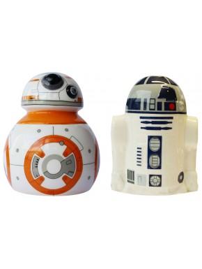 Salero y pimentero cerámica Star Wars BB-8 y R2-D2