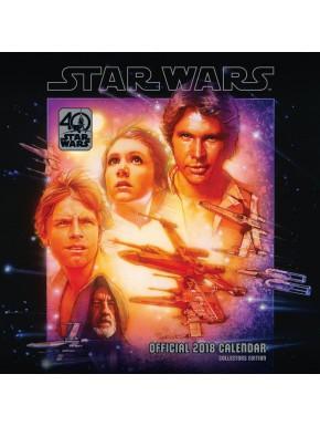Calendario pared 2018 Star Wars 40 Aniversario