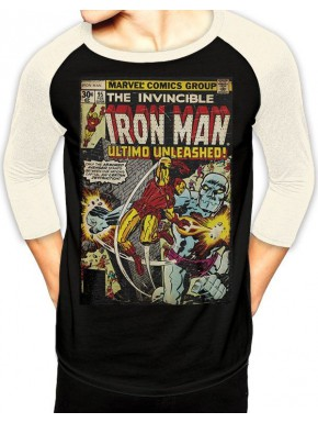 Camiseta manga larga Iron Man vintage
