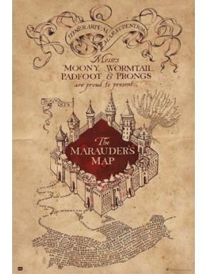 Poster portada Mapa del Merodeador Harry Potter