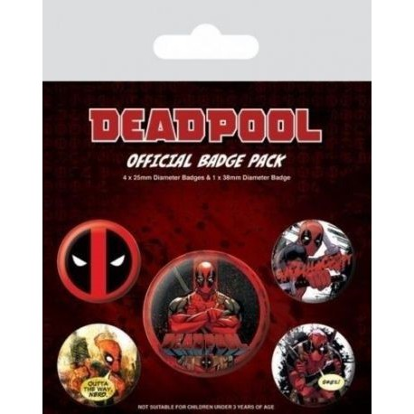 Chapas Deadpool Marvel
