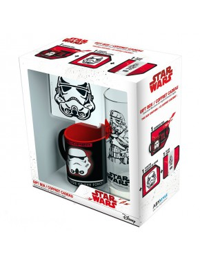 Pack regalo Stormtrooper Taza + Vaso + Posavasos
