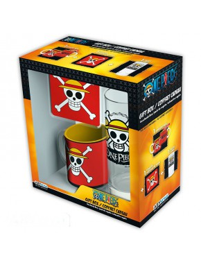 Pack regalo One Piece Taza + Vaso + Posavasos