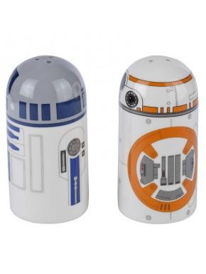 Salero y pimentero Star Wars BB-8 y R2-D2