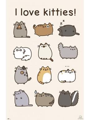 Poster Pusheen I Love Kitties