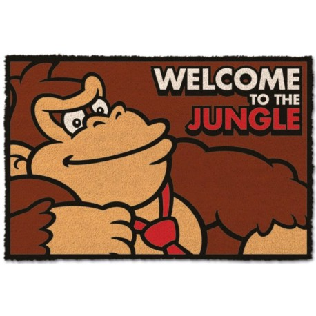 Felpudo coco Donkey Kong Welcome to The Jungle