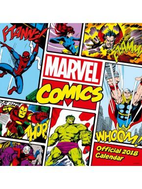 Calendario pared 2018 Marvel Comics