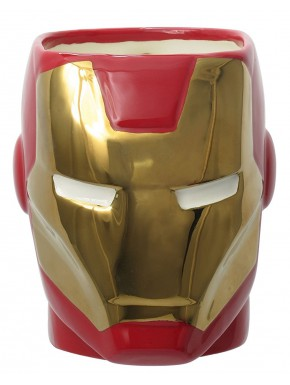 Taza Iron Man 3D Super Hero