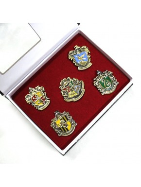 Caja pins casas Harry Potter