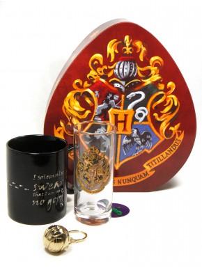 Pack regalo Hogwarts Taza + Vaso + Llavero 3D