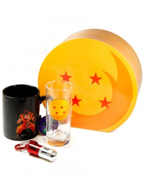 Pack regalo Dragon Ball Taza + Vaso + Llavero 3D