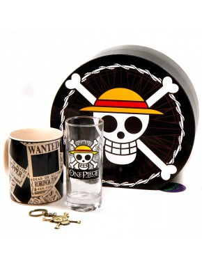 Pack regalo One Piece Taza + Vaso + Llavero 3D