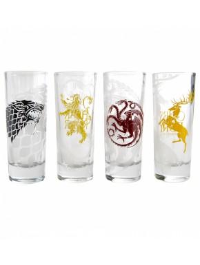 Set 4 vasos chupitos Juego Tronos Sigils