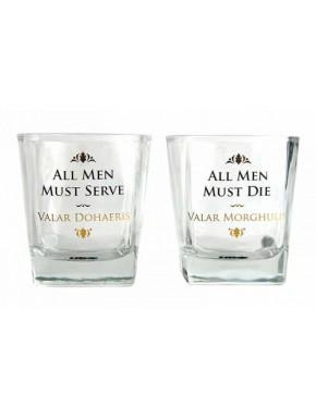 Pack vasos cristal Juego de Tronos Valar Moghulis