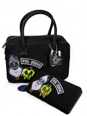 Pack bolso y cartera con parches Villanas Disney
