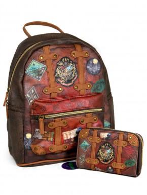 Pack cartera y bolso mochila Harry Potter retro