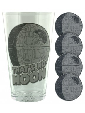 Pack Vaso + Posavasos Star Wars Death Star