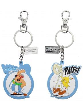 Llavero caucho Obelix Asterix El Galo reversible