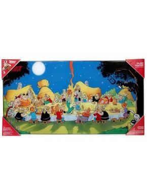 Poster vidrio Asterix el Galo Banquete