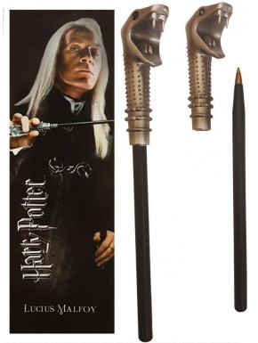 Set bolígrafo y marcapáginas Lucius Malfoy Harry Potter