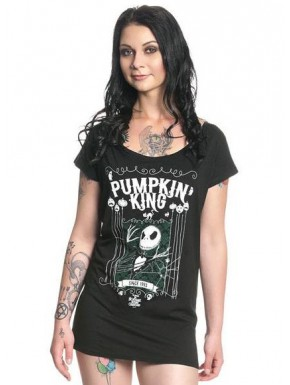 Camiseta Chica Pesadilla Antes de Navidad King Jack