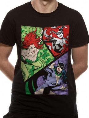 Camiseta Chica DC Comics Villanas