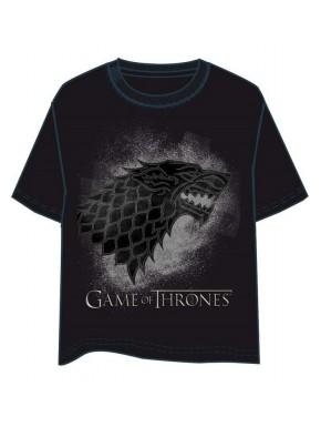 Camiseta Juego de Tronos Stark Black