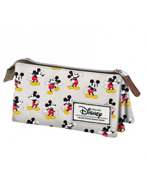 Estuche Portatodo Triple Mickey Disney